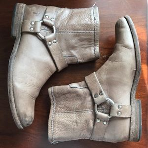 FRYE Phillip Harness Tan Leather Boots 76870